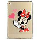 Disney Minnie and Heart Clear Soft Silicone Case Cover For Samsung iPad N571-77