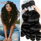 Loose Wave Indian 100 Human Hair Extensions Brazilian Virgin Remy Weft 1/3/4PCS
