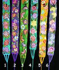 Bright Floral Embroidered Wrap Belt Mayan Chiapas Mexico Peasant Hippie Boho