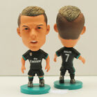 "Soccer Real Madrid (BLACK-Away-2018) Player Star 2.5"" Action Dolls Figurine"