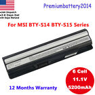 New 6 Cell Battery For MSI GE60 GE70 Series CR41 CX61 CR70 BTY-S14 BTY-S15 Power