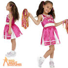 Child Cheerleader Costume High School Pink Girls Cheers Fancy Dress Outfit New