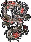 """12"""" Flame Chinese Dragon Patch Sew Iron on Polo T shirt Jacket Accessories Craft"""