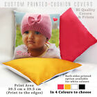 Personalised Printed Photo Cushion Collage Cushion Cover - Coloured Back Option