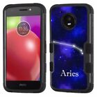For Motorola Moto E4 3-Layer/Black Bumper Phone Case (Aries)
