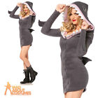 Adult Cozy Shark Costume Sexy Killer Jaws Fancy Dress Outfit Leg Avenue