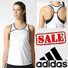 adidas Ladies Club Sports Tank Top Womens Climalite Tennis T-Shirt Top Clearance