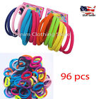 96pcs Girl's Elastic stretch Hair Ties Bands Rope Ponytail Holders Accessory Lot