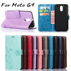 New Fashion Butterfly Flip Leather Wallet Phone Case Cover For MOTO G4 Motorola