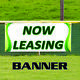 Now Leasing Banner Sign Advertising Vinyl For Rent Office Retail Space Apartment photo