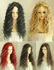 Fashion Sexy Ladies Long Black Blonde Red Brown Cosplay Party Curly Wigs Hair