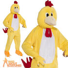 Adult Chicken Mascot Costume Mens Farmyard Animal Fancy Dress Outfit New