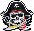 """10.25"""" XXL Pirates of The Caribbean Back Patch Iron on Jacket Vest Costume Craft"""