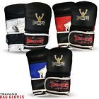 Boxing Bag Mitts Punching Bag Training Grappling MMA Muay Thai Gloves S/M - L/XL