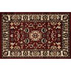 persion rug - Persion Red Ivory Hearth Rug | Fire Resistant Rugs | Lodge Rug | Fireplace Rugs