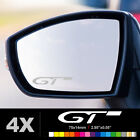 PEUGEOT GT LINE Wing Mirror Glass Silver Frosted Etched Car Vinyl Decal Stickers