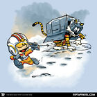STAR WARS Empire AT-AT Snow Walker Skywalker Calvin Hobbes Womens T-Shirt (S-XL) $19.99 USD on eBay