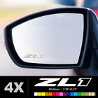 CAMARO ZL1 Wing Mirror Glass Silver Frosted Etched Car Vinyl Decal Stickers
