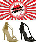 Womens Ladies Velvet High Heels Barely There Twisted Strap Peep Toe Sandals Size