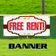 Free Rent Business Advertising Indoor Outdoor Apartment Banner Sign photo