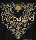Lamb Of God T-Shirt Skull Reflections groove metal rock Official S Last NWT