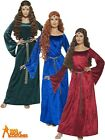 Adult Medieval Maiden Marion Costume Green Ladies Fancy Dress Robin Hood Outfit