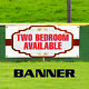 Two Bedroom Available Real Estate Apartment Rent Banner Sign photo