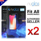 2X NUGLAS Genuine Tempered Glass Screen Protector for iPhone x 7  7plus 6s plus