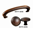 Brush Oil Rubbed Bronze Pull and Matching Round Knob Cabinet Hardware