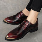 British Retro Mens Lace Up Pointy Toes Dress Formal Business Wedding New Shoes