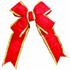 """Vickerman 12"""" x 15"""" Nylon Outdoor Structural Bow Made with 3.5"""" Ribbon"""
