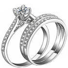 2.50 ct 3 pc Real 925 Sterling Silver Women's Wedding Engagement Ring Sz 4-11,5
