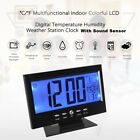 Electric Alarm Clock Temperature Sound Control LCD Digital Screen Table Clock