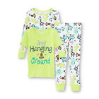 WonderKids Infant & Toddler Girl's Graphic  Zoo Animals Pajama 2 Tops & Pants 4T