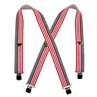 New Welch Men's Elastic American Flag Clip End Suspenders (Tall Available)