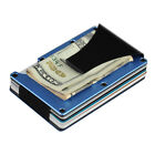 RFID Blocking Aluminum Metal Slim Credit Card Holder Wallet & Money Clip