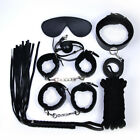 Unisex - 7pcs Adult Game Toy Leather Clamps Whip Collar Handcuffs Fun Sex Toy For Couple