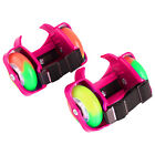 Kids Wheel Heel Roller Light up Adjustable Skates Adult Falsh Blade Shoe Strap .