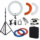 "Bright 18"" Dimmable Photo Video Continuous Diva Ring Light Kit Stand w/Carry Bag"
