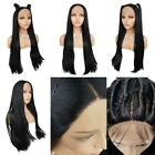 Full Lace Front Natural Straight Wig Women Long  Adjustable Synthetic Hair