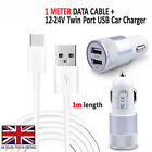 XIAOMI MI A1 (5X) - In Car Fast Dual Charger PLUS Type C 3.1 Charging Cable Lead