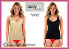Seamless Laser Cut Crossover Vest Body Shaper Skintone & Black, Size 8-20, S-XL