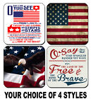 4 DRINK COASTERS - USA 3 America Patriotic Flag United States National Anthem