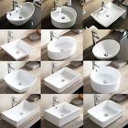 Bathroom Porcelain Ceramic Vessel Vanity Sink Basin Bowl with Popup Drain
