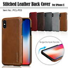 Pierre Cardin Genuine Leather Cover Hard Back Case For Apple iPhone X Phone Case