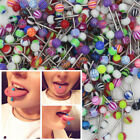 30/60pcs Colorful Arcyl Bar Tongue Rings Body Piercing Jewelry Tounge Bars Cool