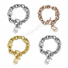 Fashion Jewelry Women Men Crystal Diamond Chain M @ K Letterbangle Bracelet