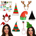 NOVELTY CHRISTMAS HATS HEADBANDS XMAS OFFICE PARTY FESTIVE FANCY DRESS