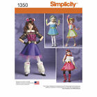 Simplicity Sewing Pattern #1350 Girls Monster High Halloween Costumes NEW UNCUT