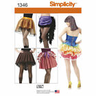 Simplicity Sewing Pattern #1346 Misses Costume Skirts Bustles NEW UNCUT